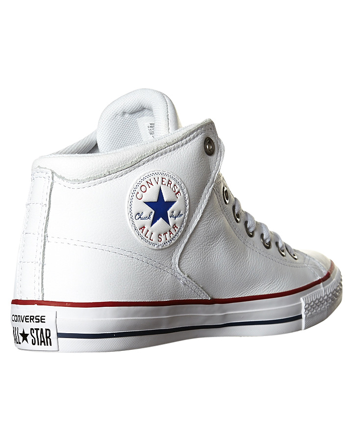 2c5c037554d4 Converse Chuck Taylor All Star High Street Leather Hi Shoe - White ...