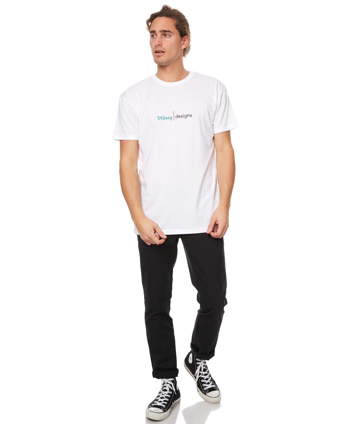 stussy designs line mens white surfstitch
