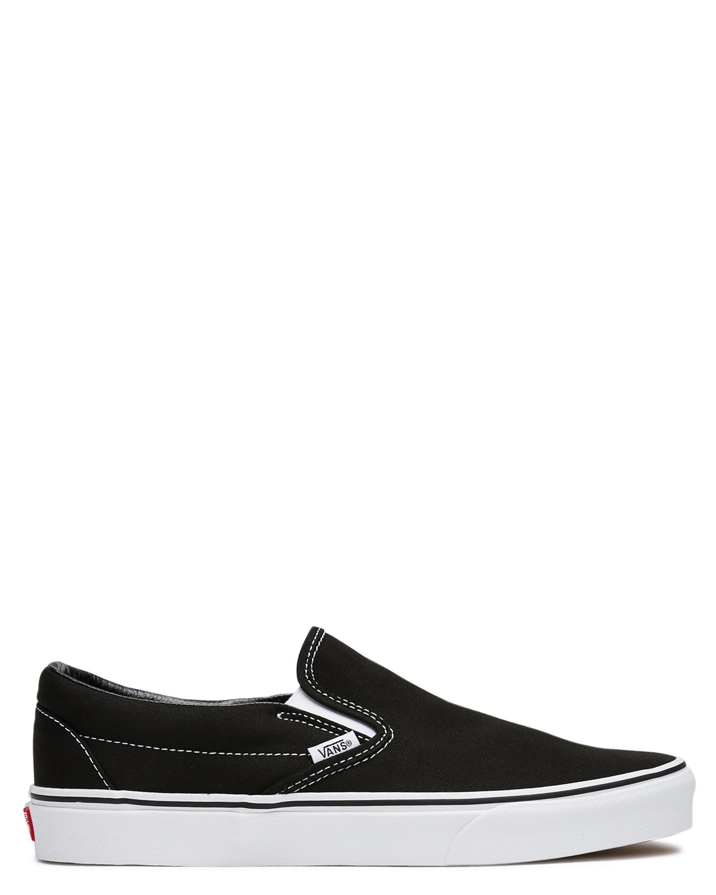 Vans Mens Classic Slip On Shoe - Black