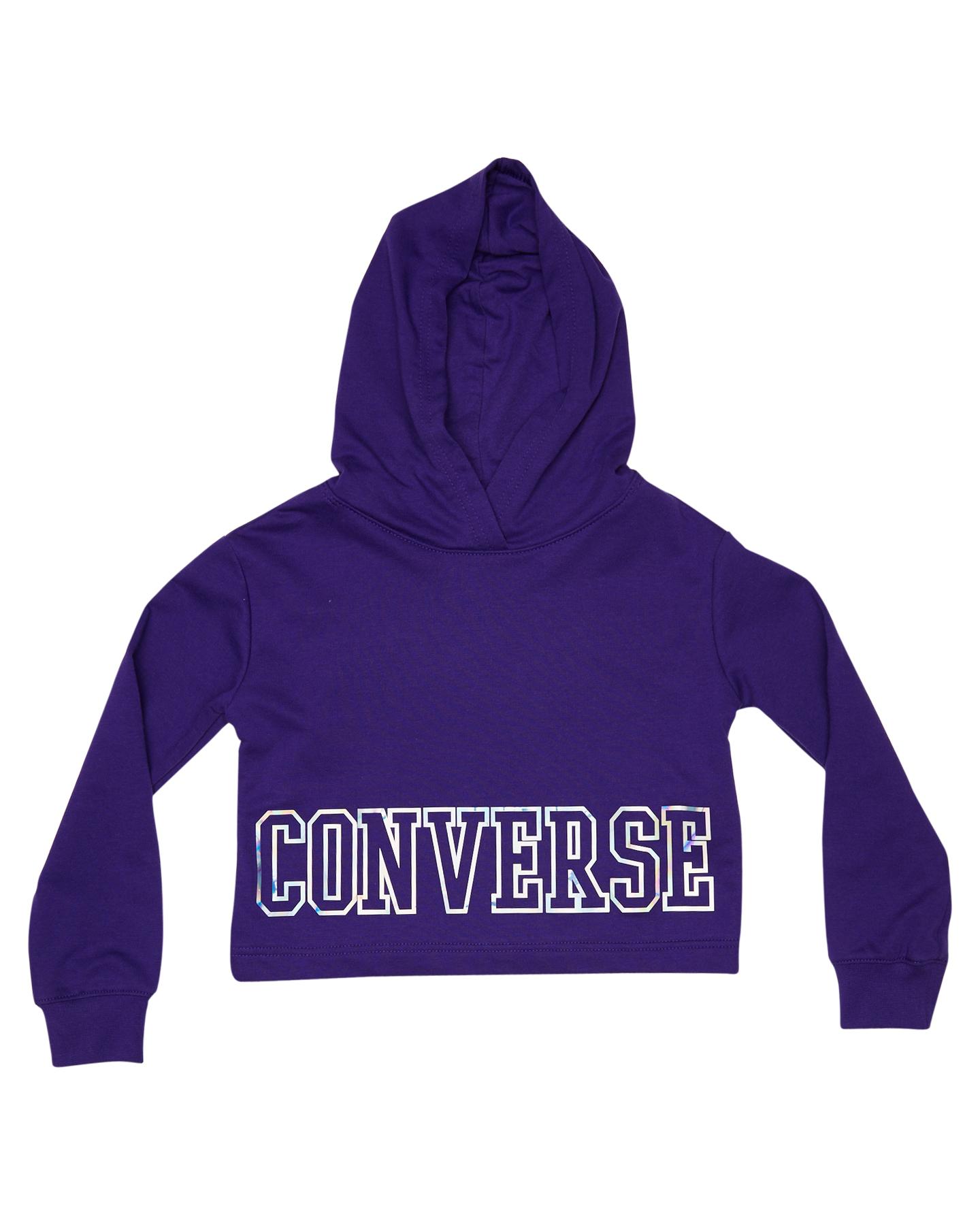 945268636281 Converse Girls Iridescent Hoodie - Kids - Court Purple