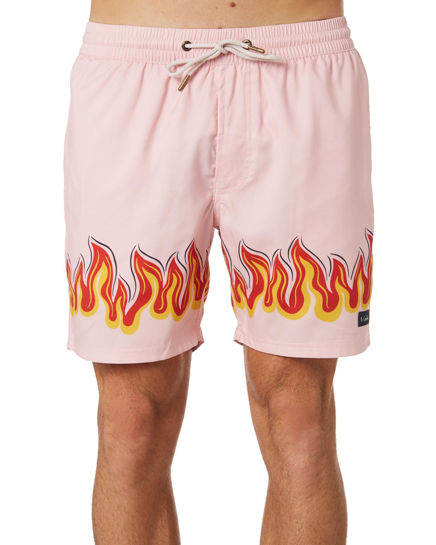6daa05eb7e6bd0 Barney Cools Poolside Mens Beach Short - Pink Flames | SurfStitch
