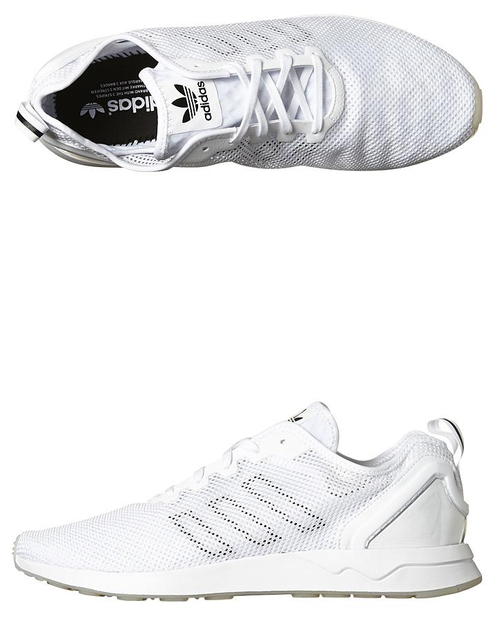 reputable site 2301c bfb8d Adidas Originals Zx Flux Adv Sl Shoe - White Black White ...