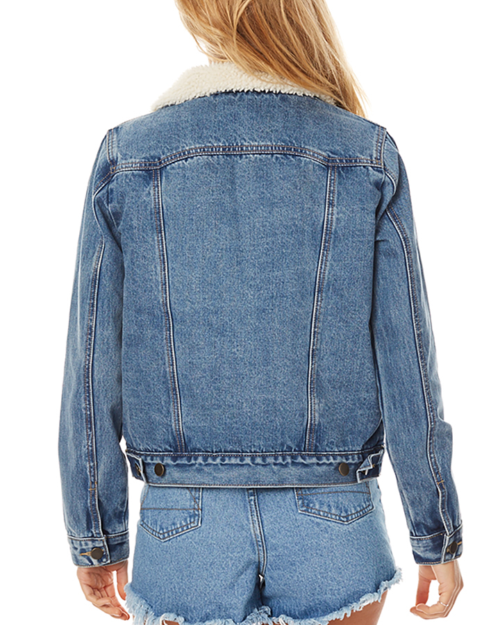 The Hidden Way Denim Borg Jacket - Denim | SurfStitch | SurfStitch