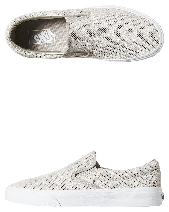ec80054165 Vans Classic Slip On Suede Womens Shoe - Silver Cloud