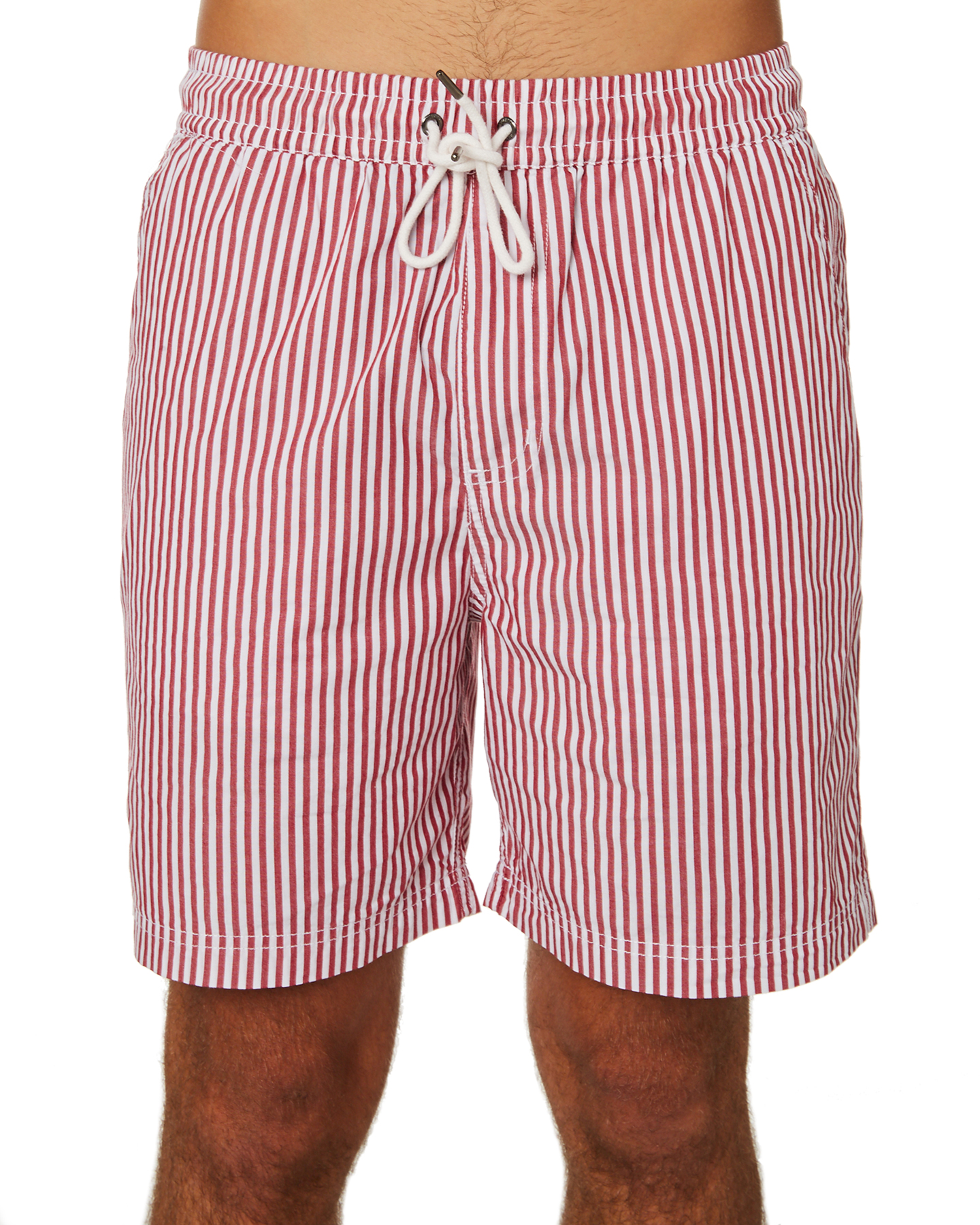 8cc3684315 Huffer Striped Relax Mens Short - Red White | SurfStitch