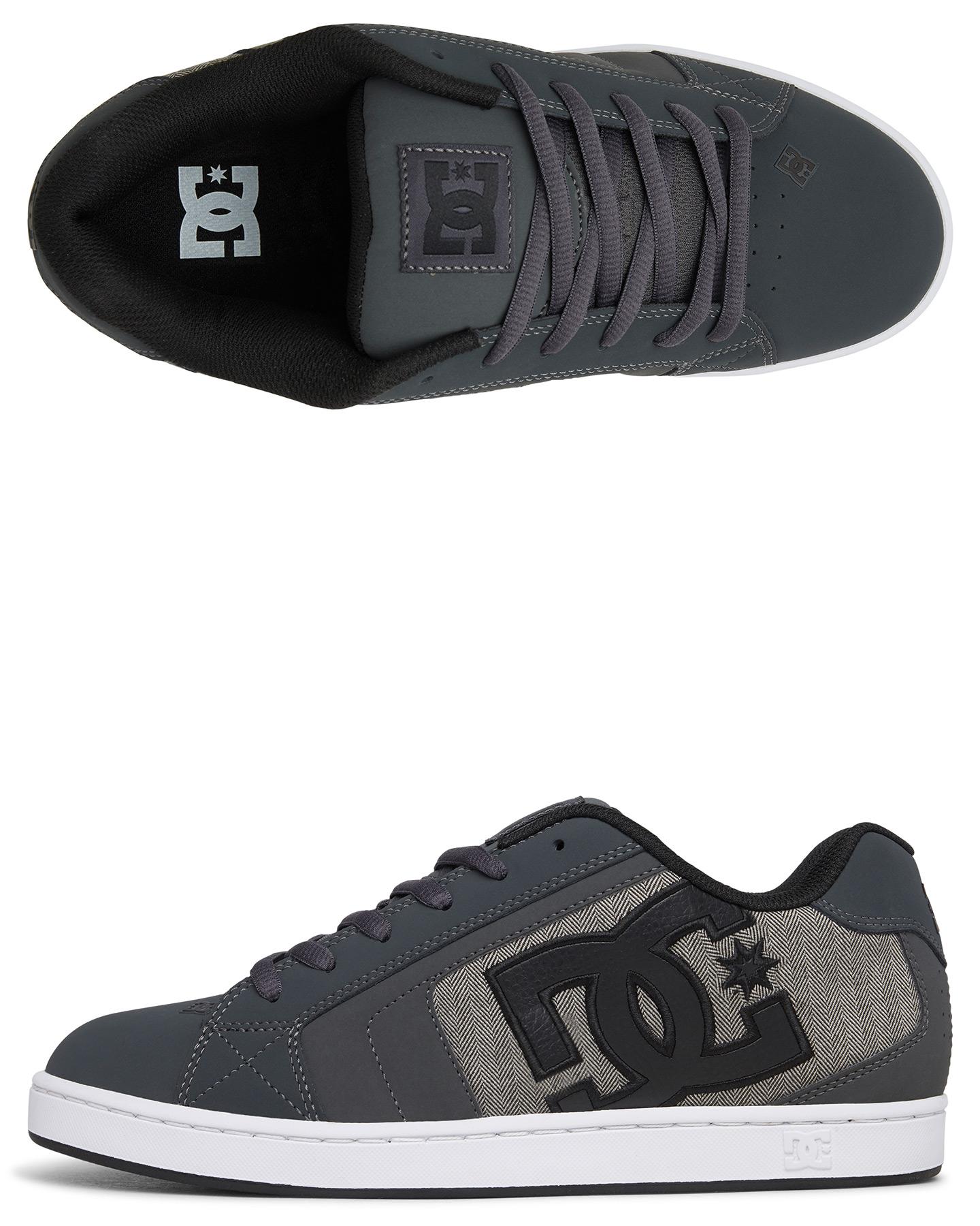 Dc Shoes Mens Net Se Shoe - Grey/Black