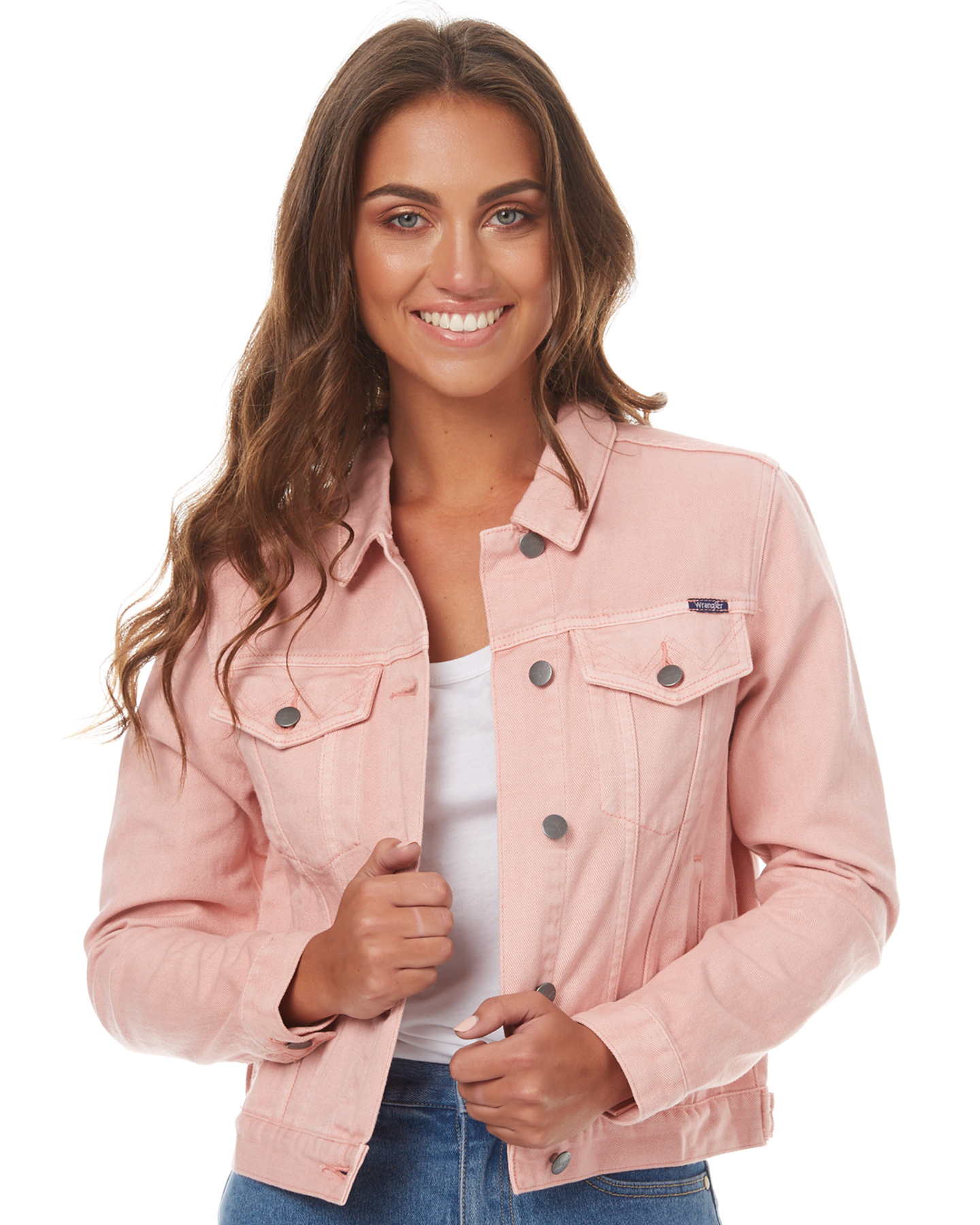 Pink womens clothing wrangler jackets w 950904 du1pink