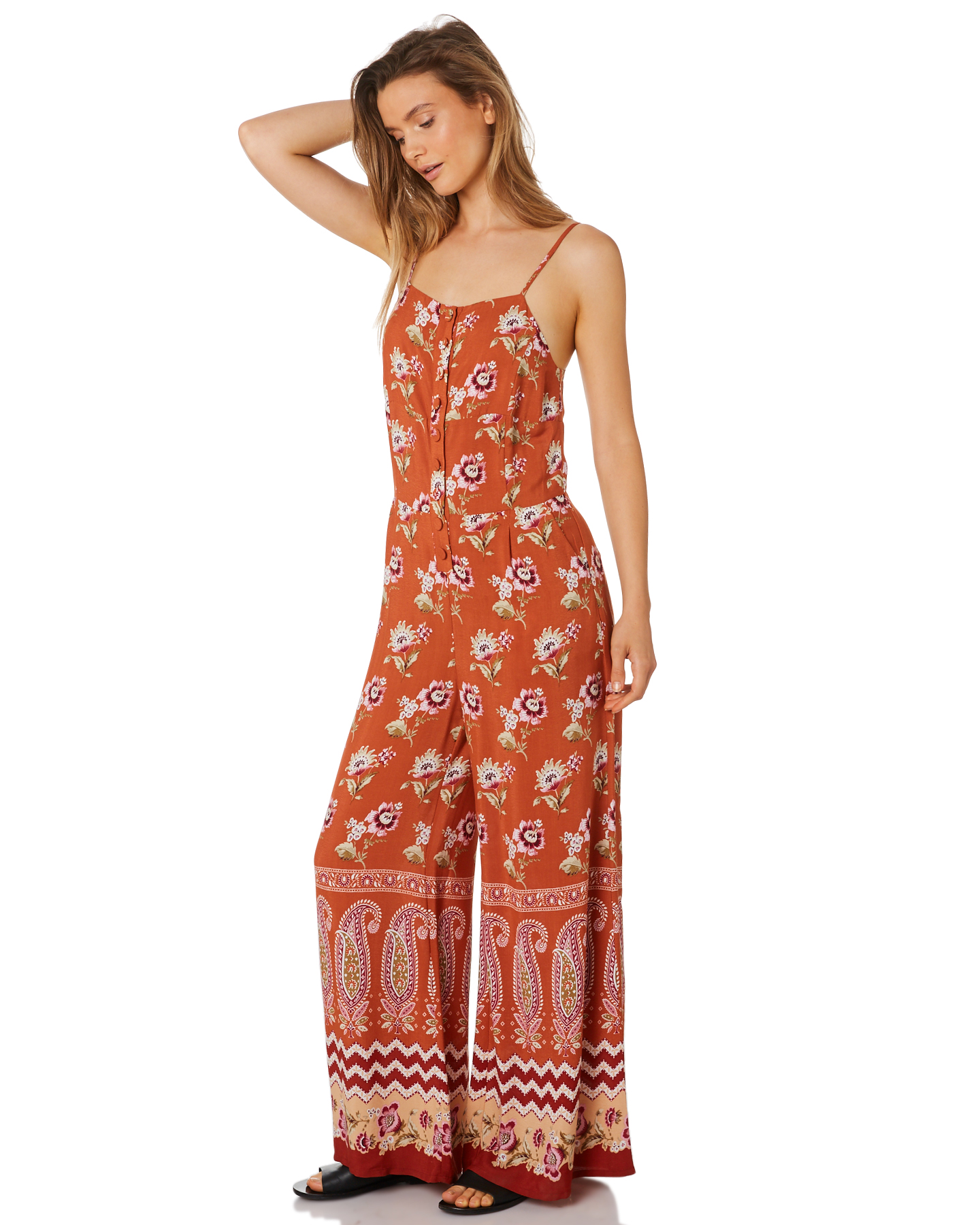 fc45bff3b0 ... RUST WOMENS CLOTHING TIGERLILY PLAYSUITS + OVERALLS - T395437RUS ...