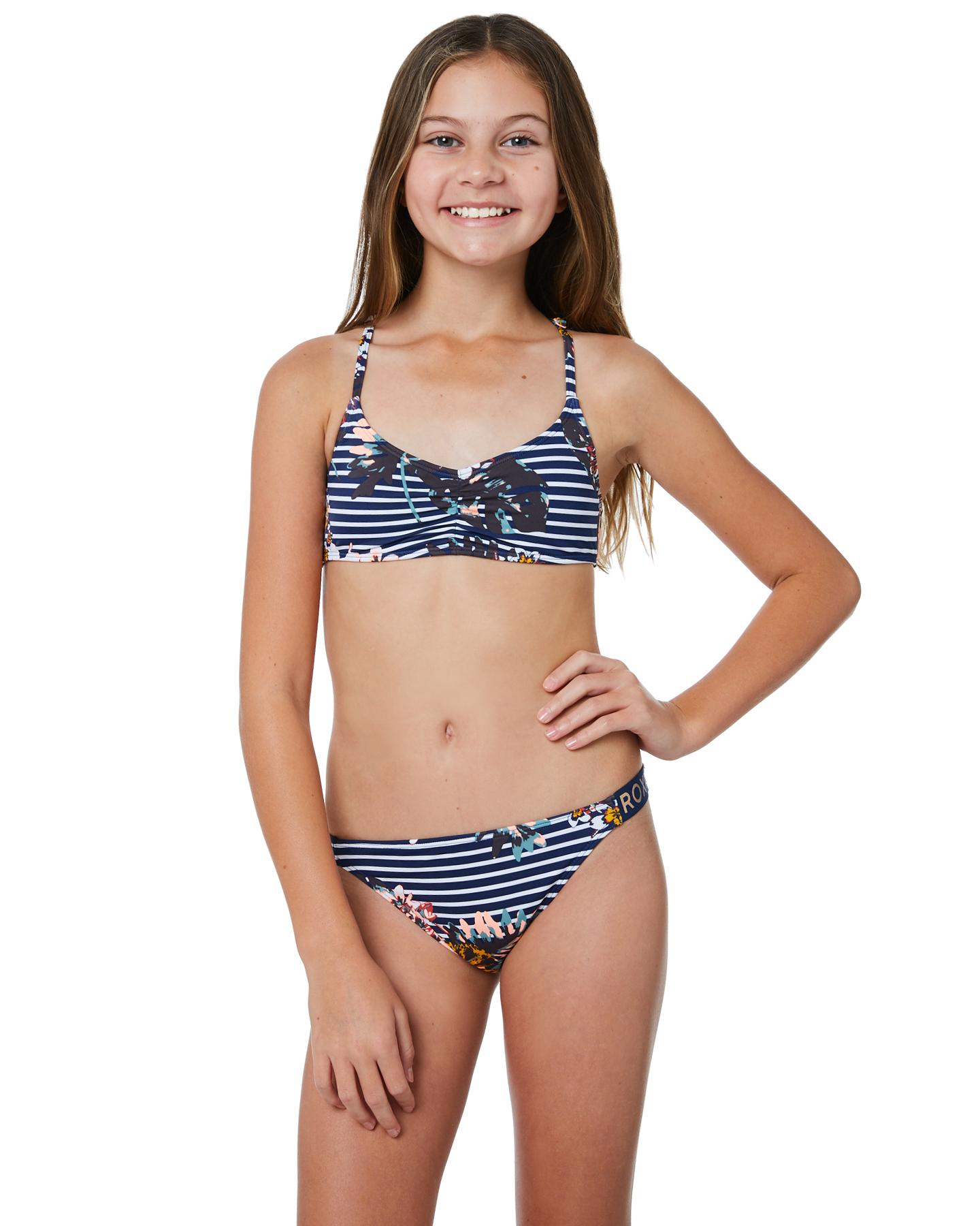 on sale 42f46 93afa Roxy Keep In Flow Athletic Bikini Set - Medieval Blue Bdwalk ...