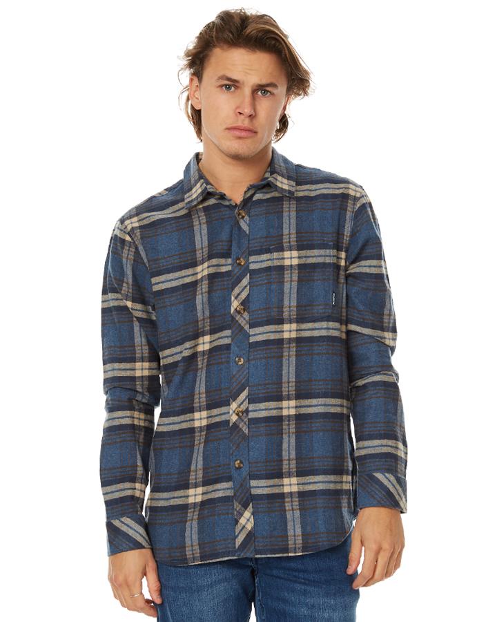 Billabong coastline mens flannel shirt denim surfstitch for Flannel shirt and jeans