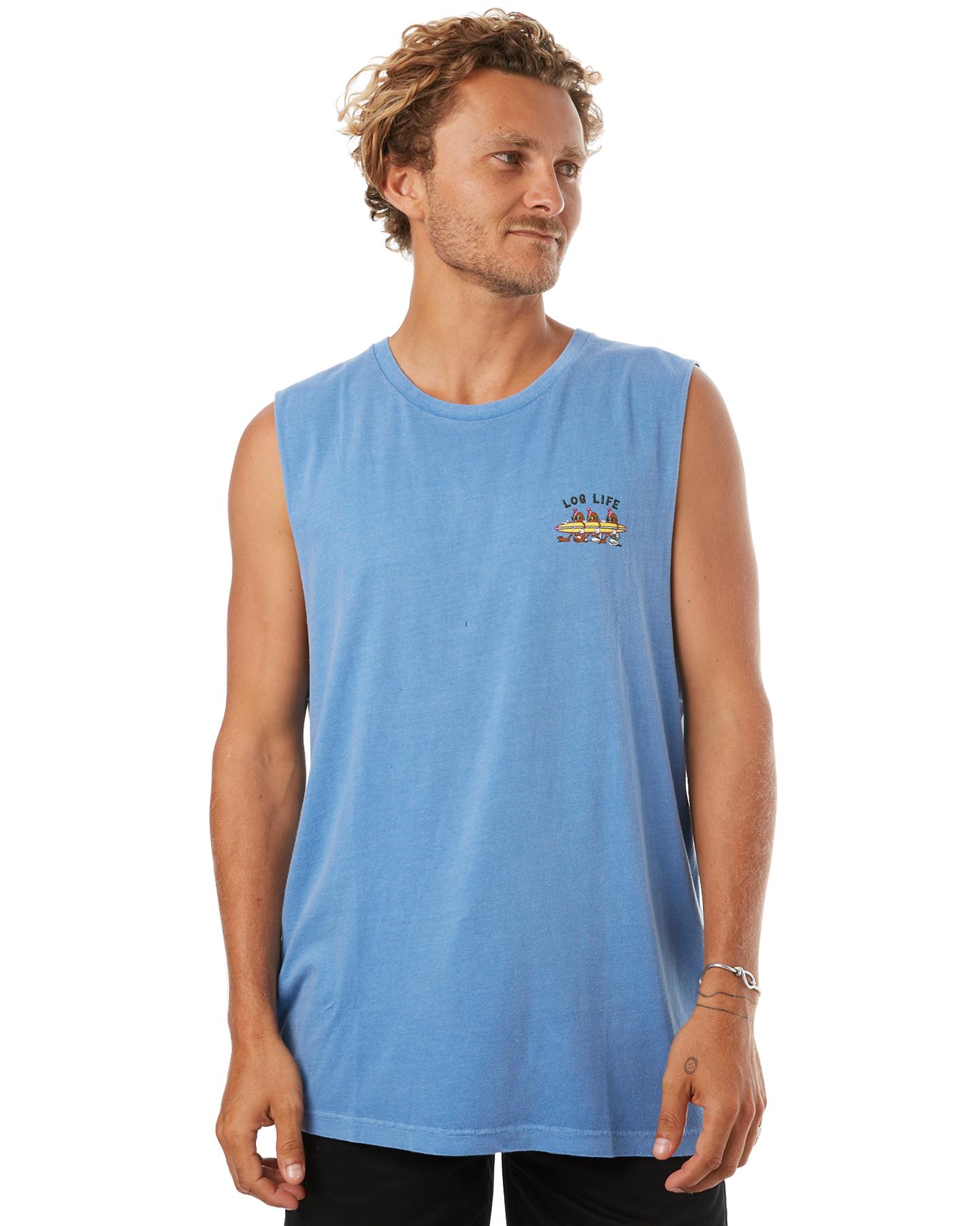 5778c6f4adfc4f ... CLIFTON BLUE MENS CLOTHING RVCA SINGLETS - R172007ACBLU ...