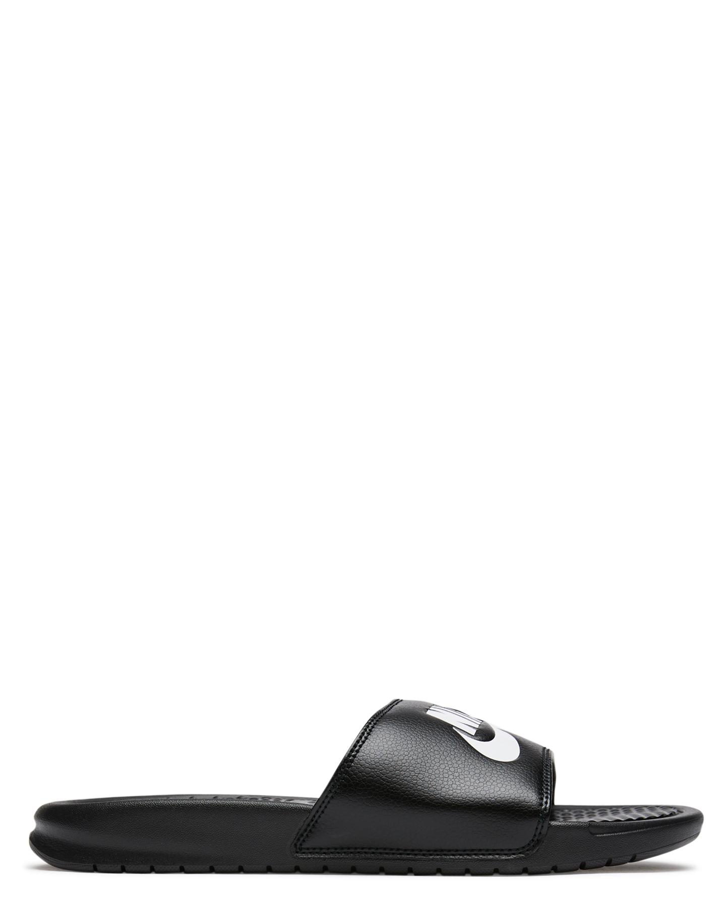 94499cbfb BLACK WHITE MENS FOOTWEAR NIKE SLIDES - SS343880-090M ...