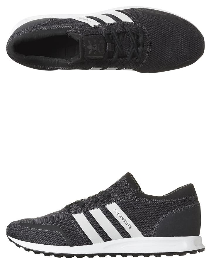 Adidas Originals Mens Los Angeles Shoe - Black White | SurfStitch
