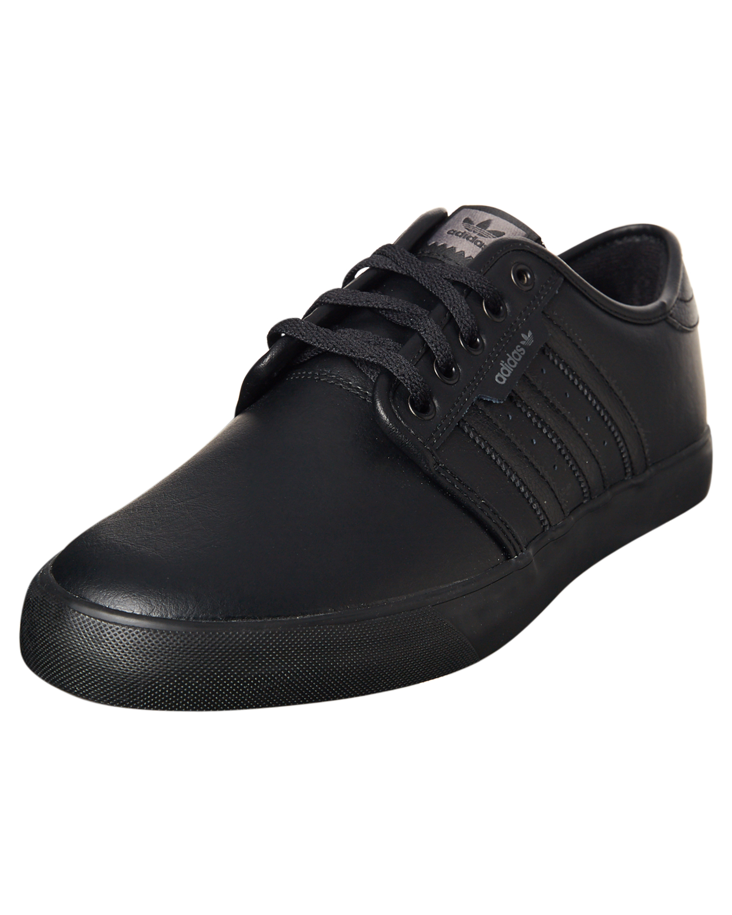 Adidas Mens Seeley Leather Bts Shoe - Black Black | SurfStitch