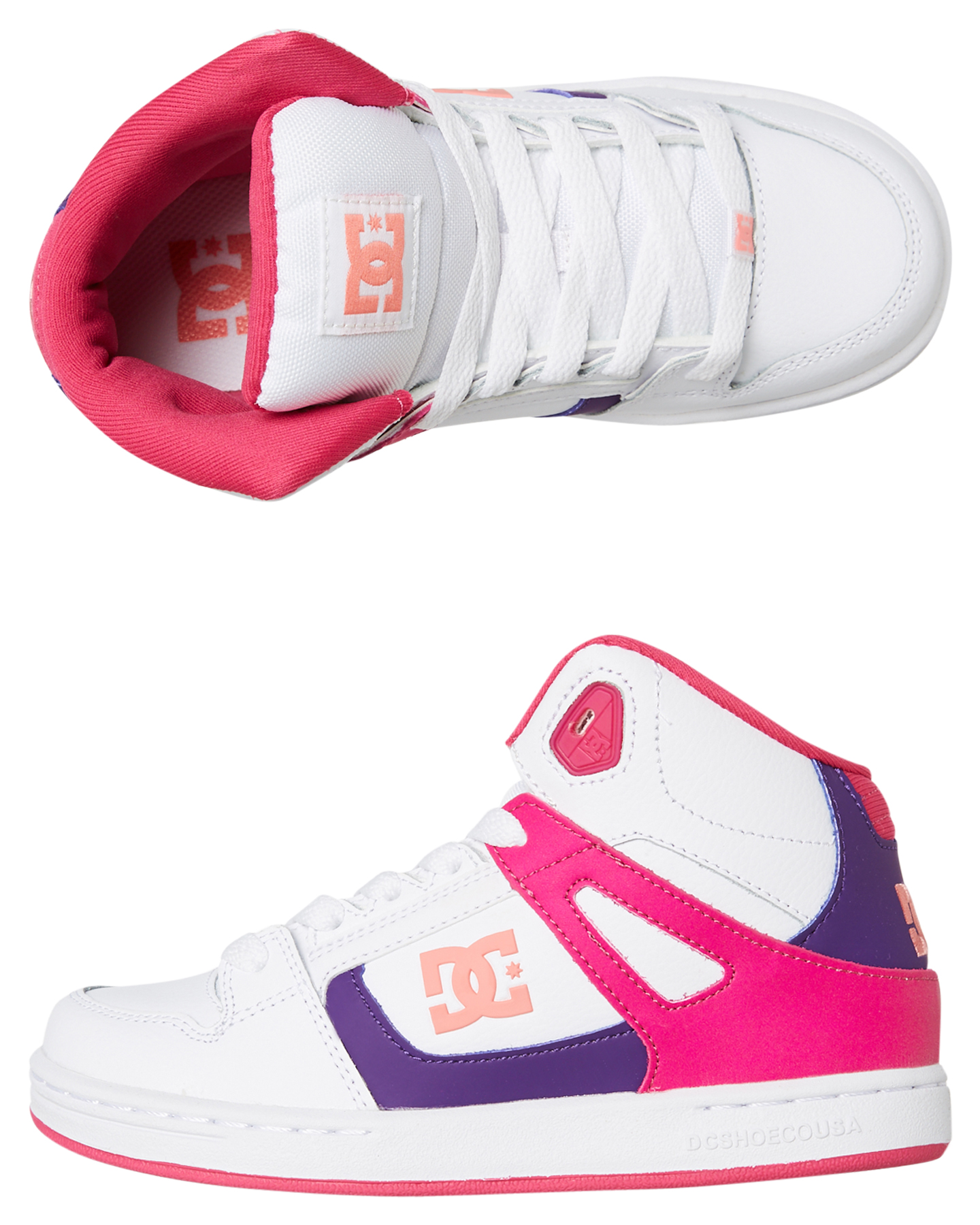 154c38a7f2 Dc Shoes Girls Pure Hi Top Shoe - White | SurfStitch