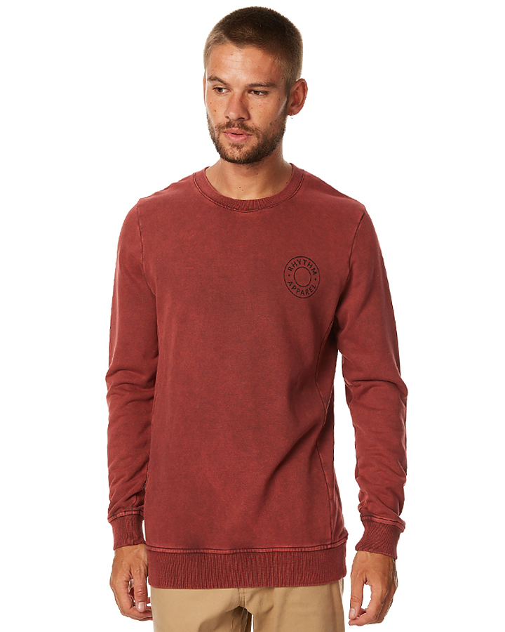 rhythm washed out mens pullover vintage surfstitch