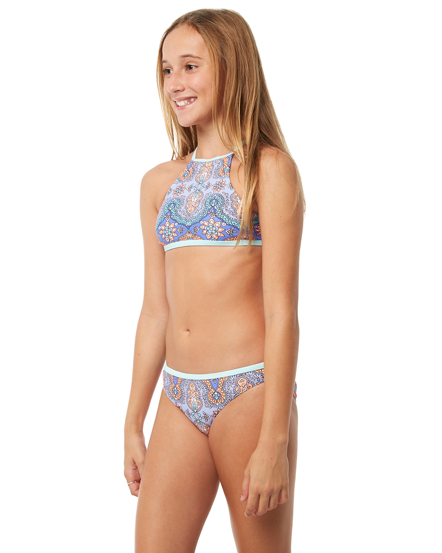 a0c7f56696 Rip Curl Girls Mystic Sun High Neck Bikini - Teens - Aqua