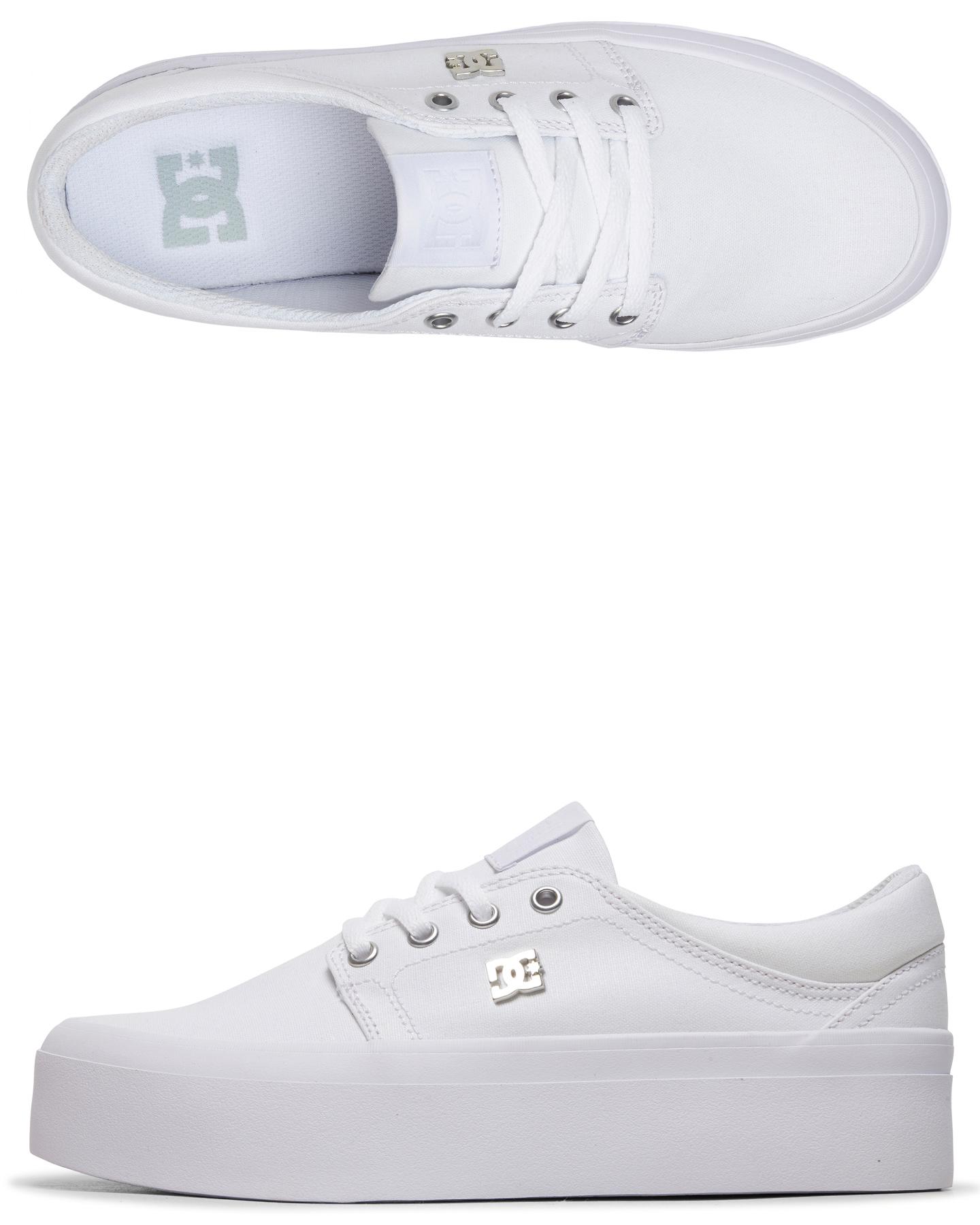 womens white platform shoes