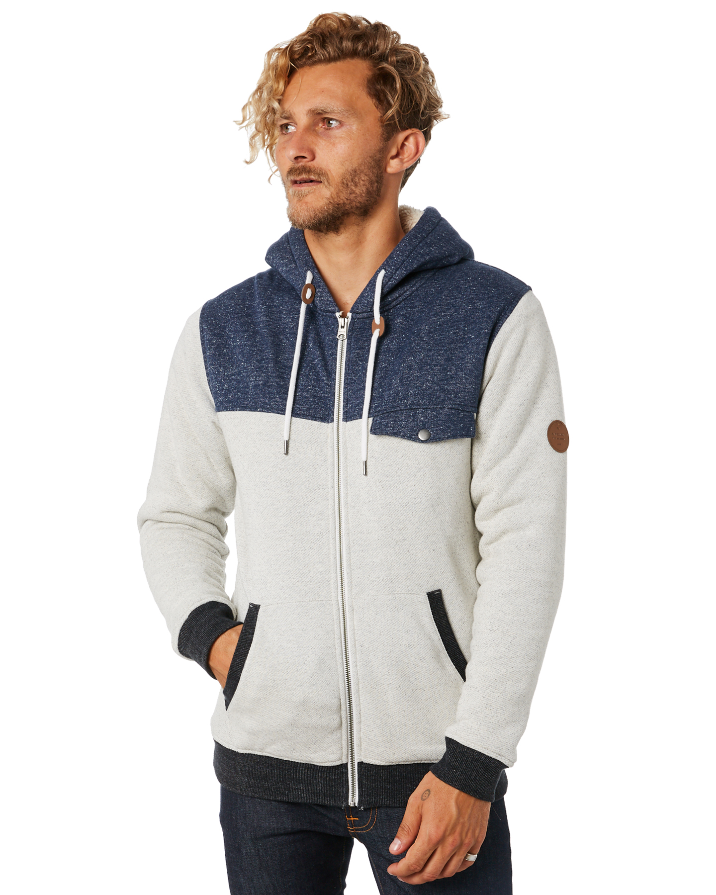 d2f8ad17d4 Cape Lined Mens Fz Hoodie