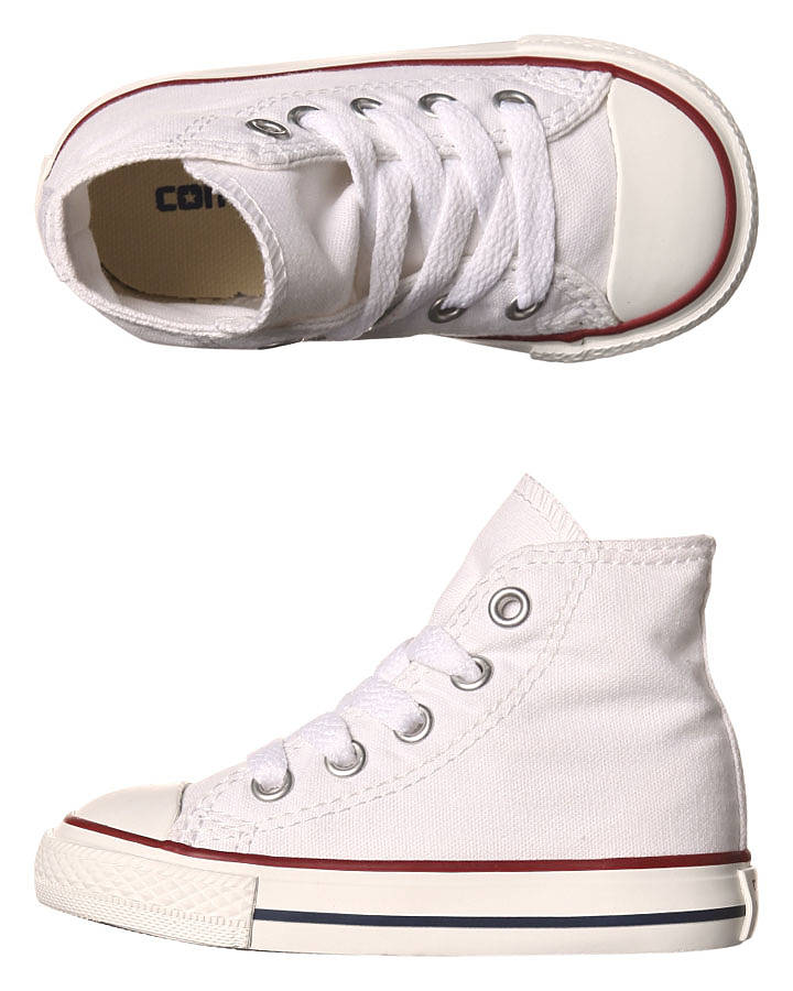 053e70f1fb46 Converse Chuck Taylor All Star Hi Shoe - Kids - Optical White ...