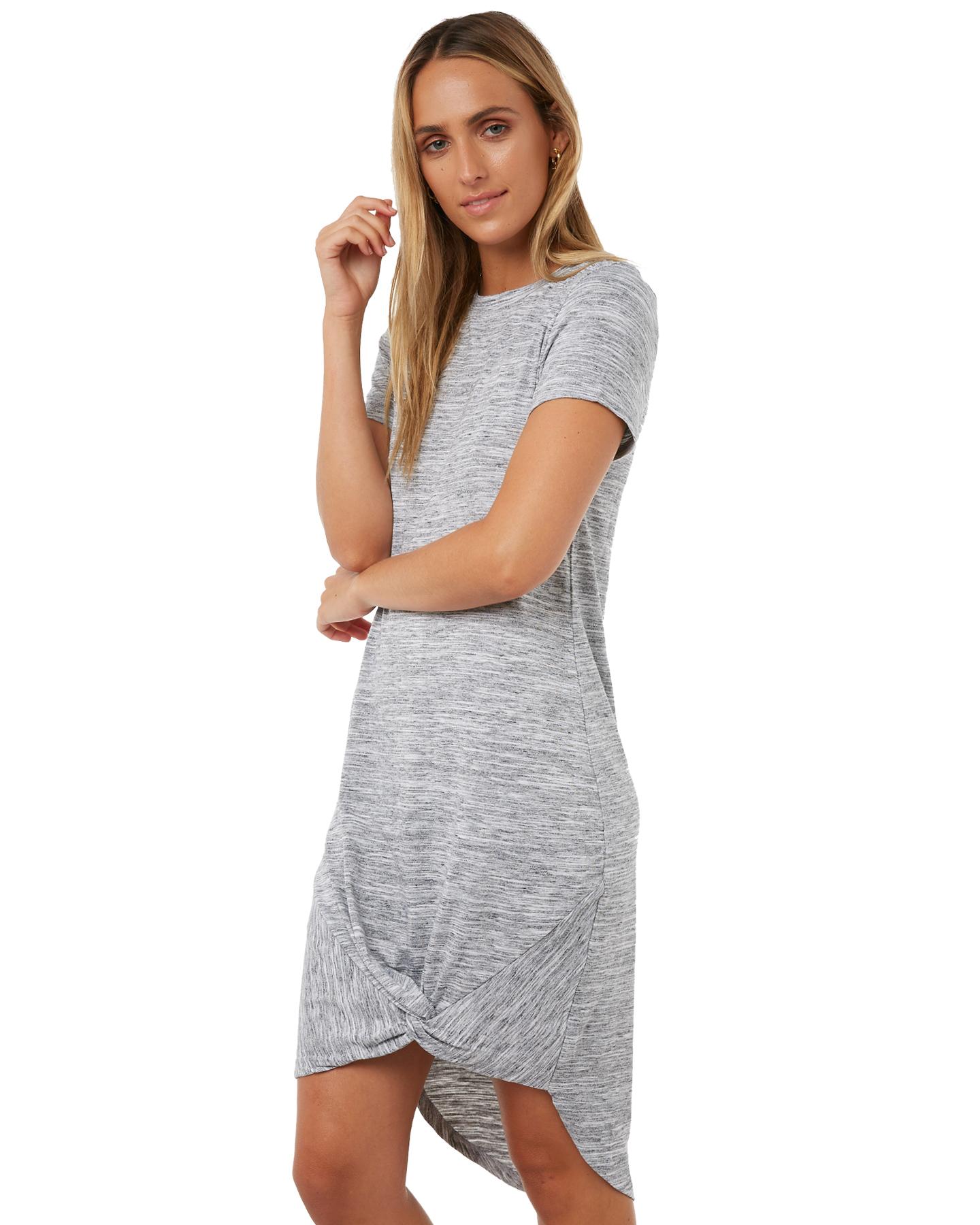 91f21b714e ... GREY MARLE WOMENS CLOTHING SILENT THEORY DRESSES - 6008016GREYM ...