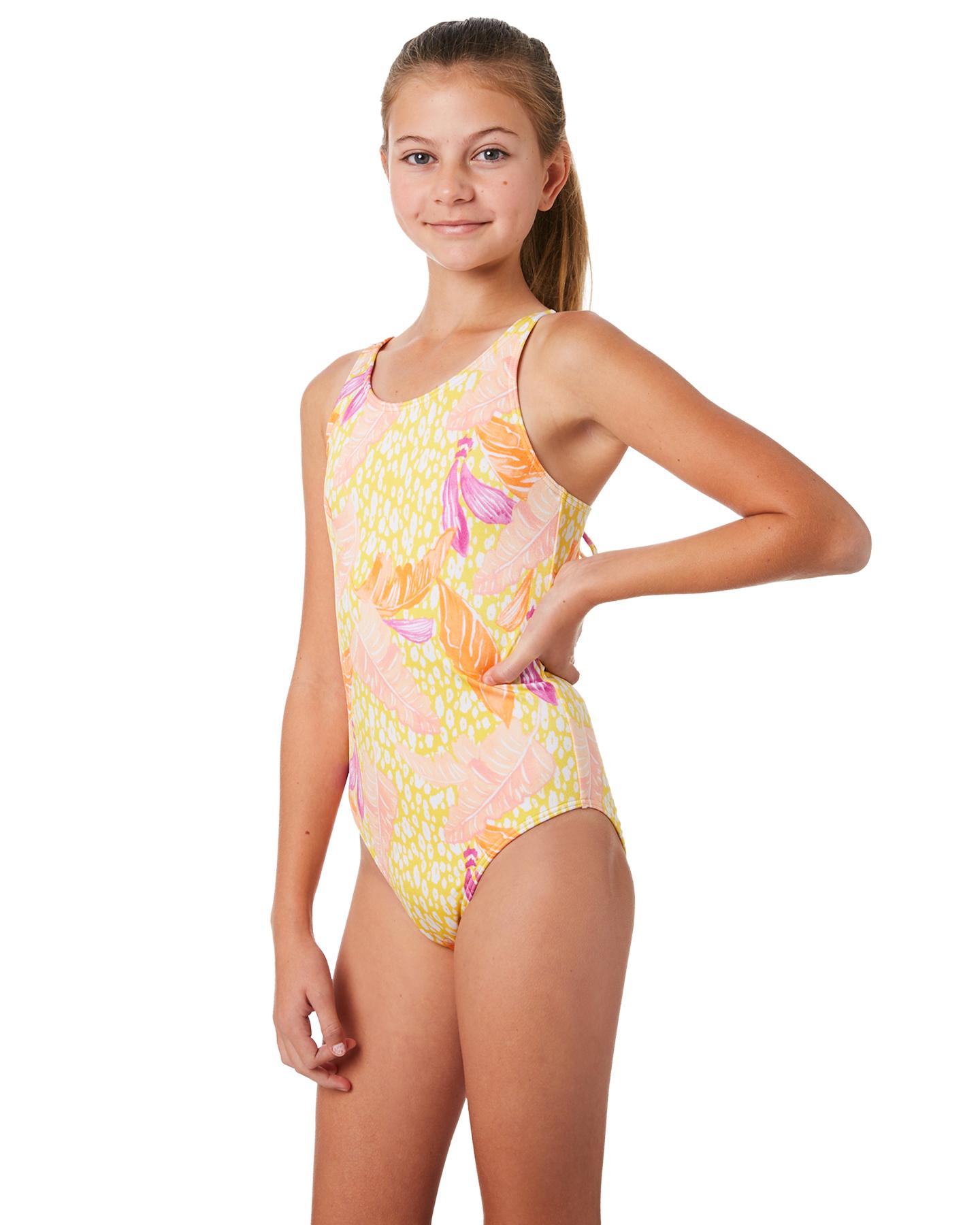 d973cbffd6c8a Billabong Kids Girls Love Palm One Piece - Mimosa | SurfStitch