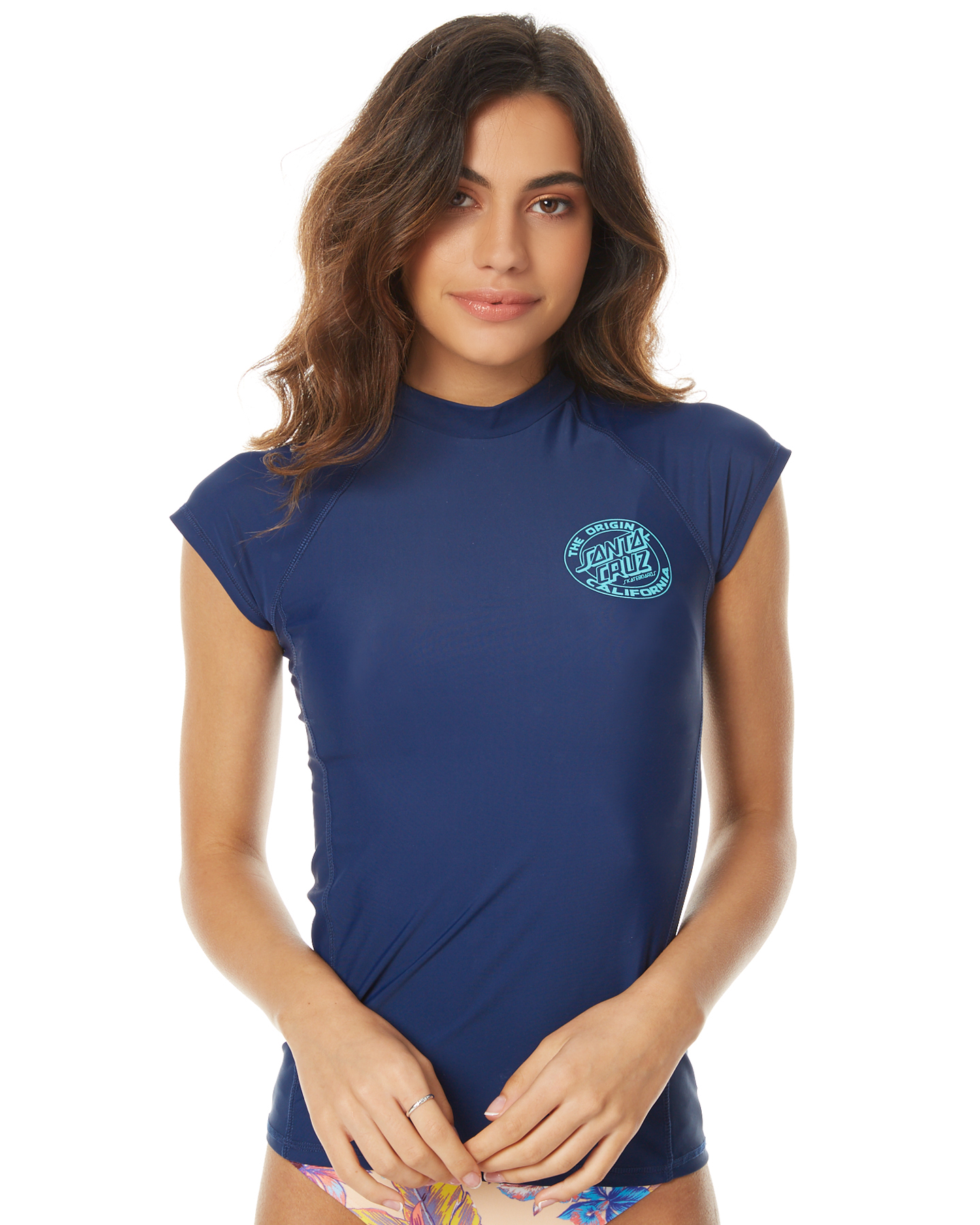 583f4f892a Santa Cruz Cali Dot Rash Vest - Atlantic Blue | SurfStitch