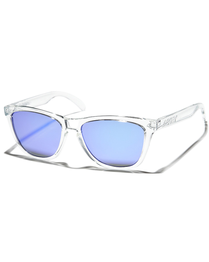 clear oakley frogskins 2ay1  CLEAR VIOLET IRIDIUM MENS ACCESSORIES OAKLEY SUNGLASSES