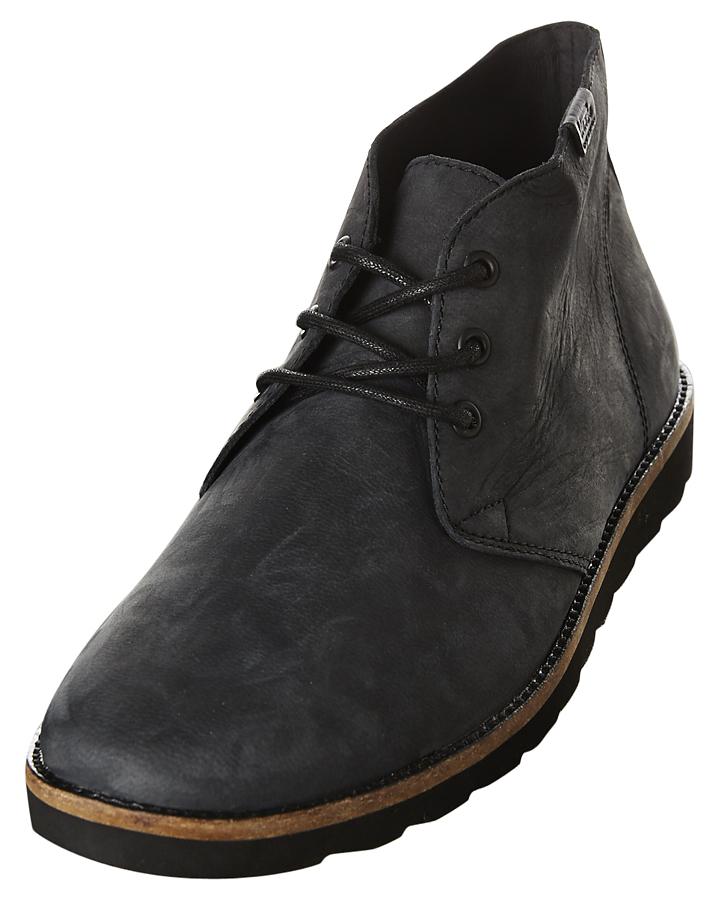 vans black leather boots