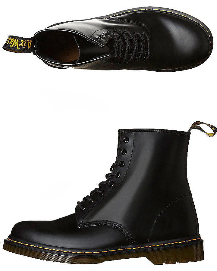 e6f101348d495 Dr. Martens Womens 1460 8 Eye Smooth - Black | SurfStitch