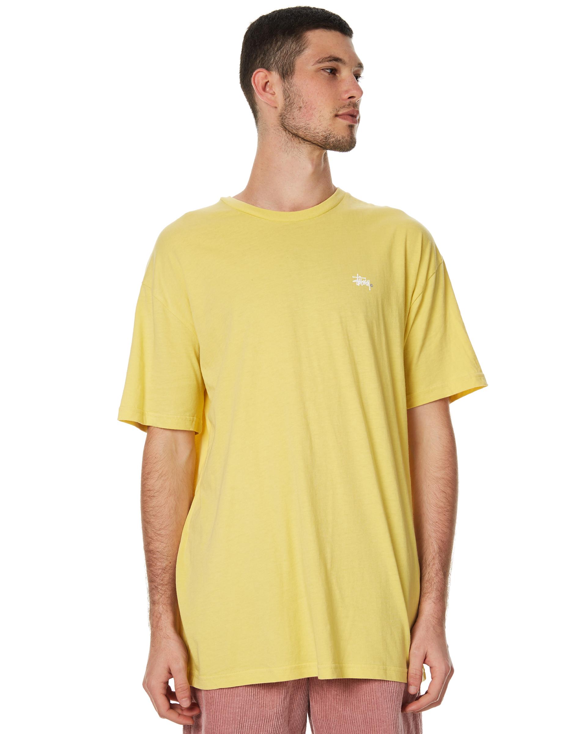 stussy solid basic mens mustard surfstitch
