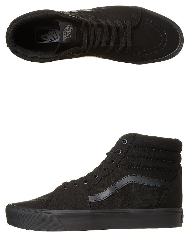 57f0faa22d7d68 Vans Mens Sk8 Hi Lite Shoe - Black Black