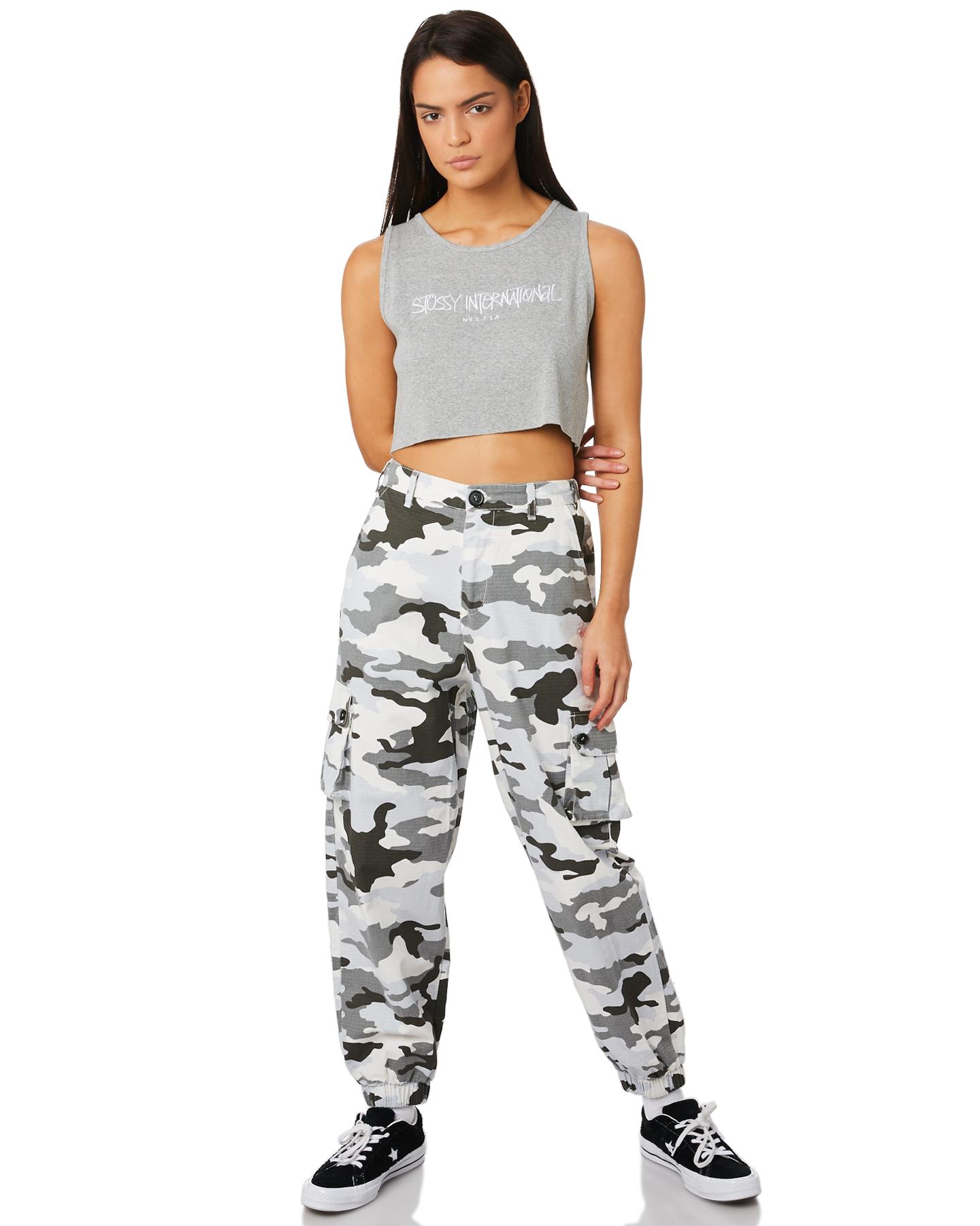 2721a60f4b ... WHITE CAMO WOMENS CLOTHING STUSSY PANTS - ST183617WHI