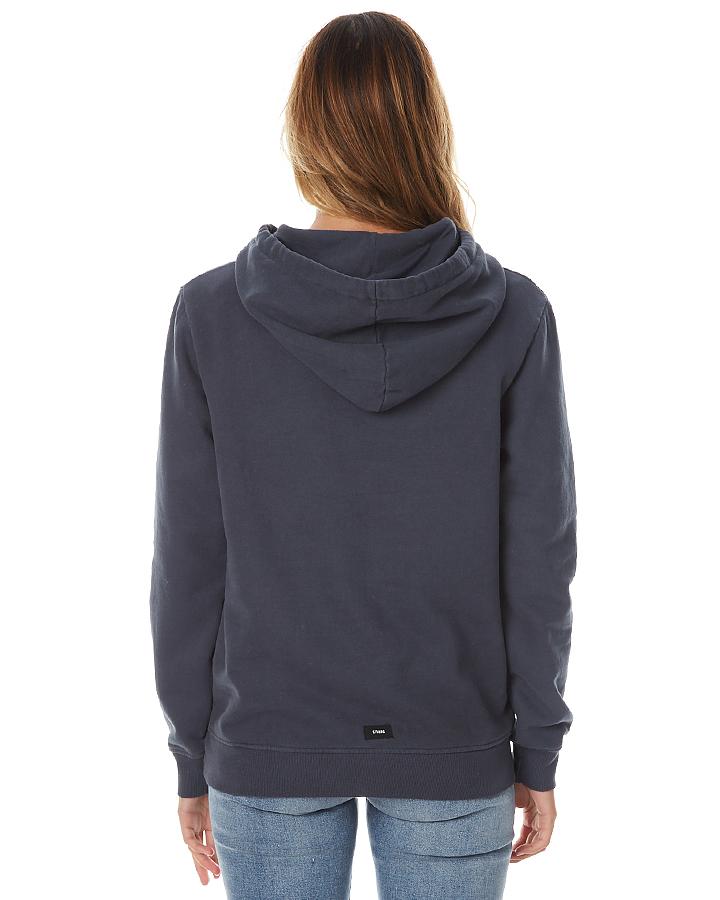 thrills palm logo womens hoodie faded marine surfstitch