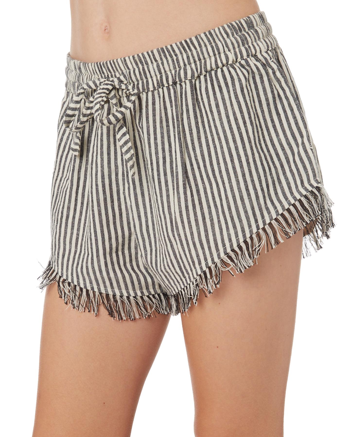 5e5ed2b77c Billabong Girls Sun Striped Short - Teens - Black   SurfStitch