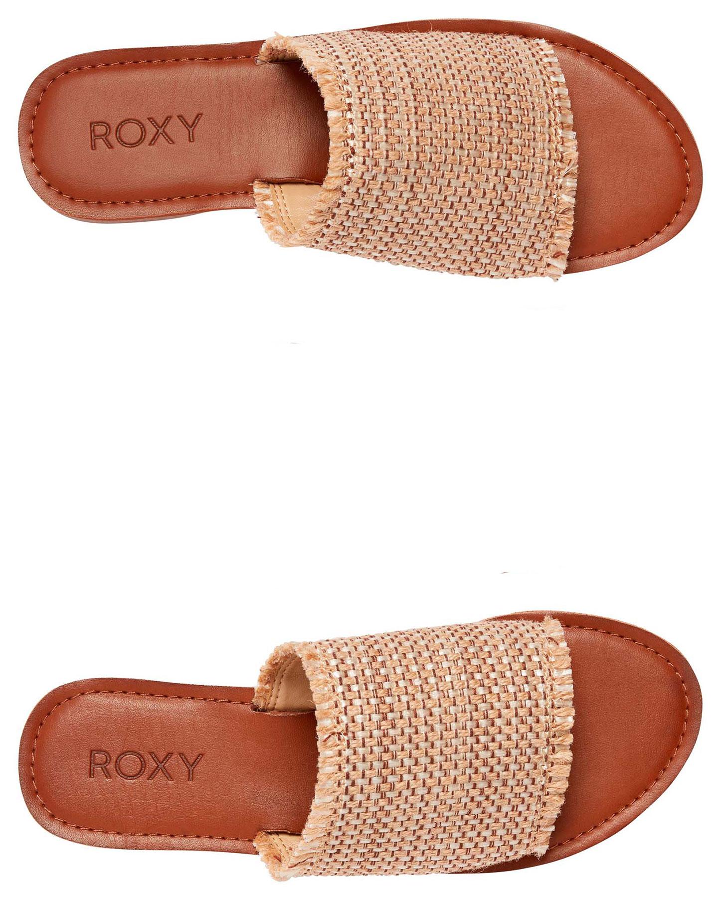 Roxy Womens Kaia Slide Sandals - Tan