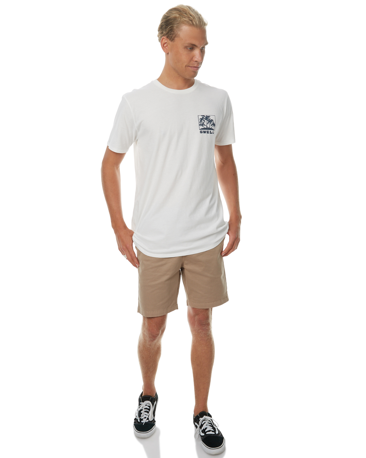 Swell Stamp Mens Tee Off White Surfstitch