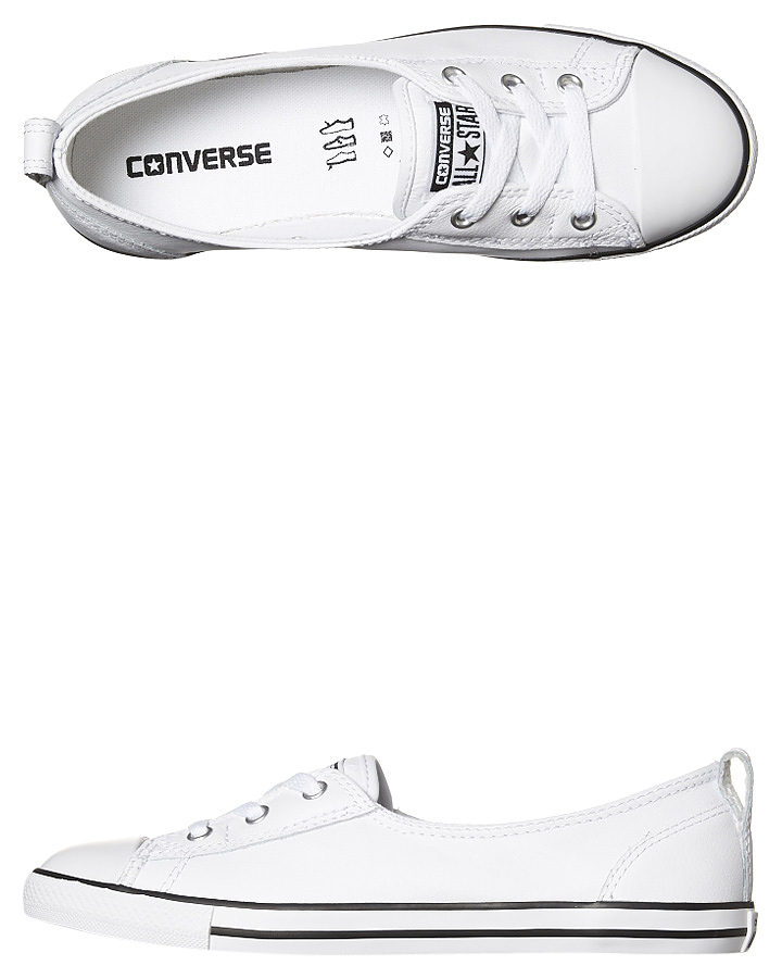 eb97be95391 Converse Chuck Taylor All Star Ballet Lace Leather Shoe - White ...