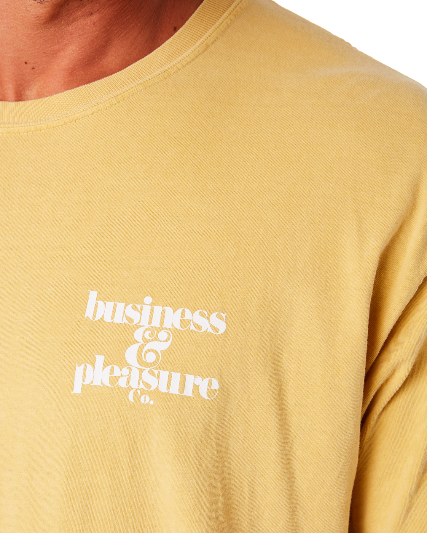 25bf64fa638a ... VINTAGE YELLOW MENS CLOTHING BUSINESS AND PLEASURE CO TEES -  BPS-BPC-VTG- ...